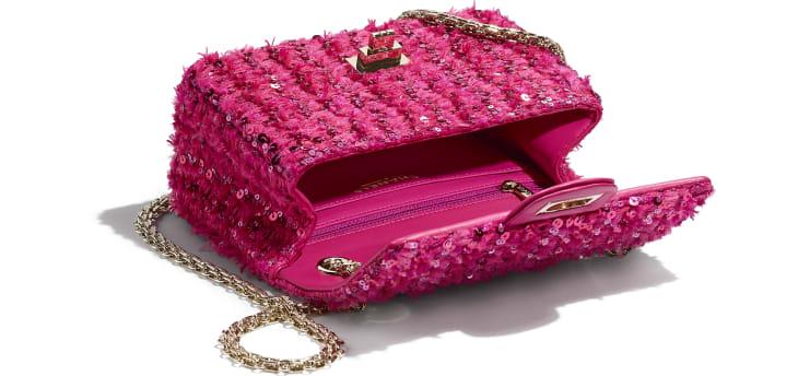 image 3 - Mini 2.55 Handbag - Sequins & Gold-Tone Metal - Pink