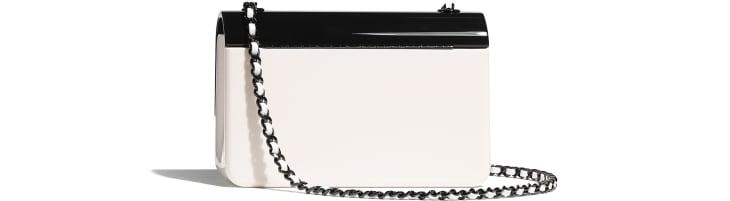 image 2 - Mini sac du soir - Plexi & métal noir - Noir & blanc
