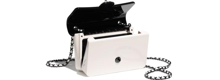 image 3 - Mini sac du soir - Plexi & métal noir - Noir & blanc
