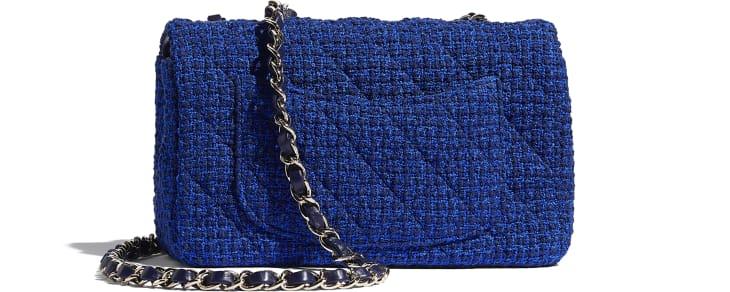 image 2 - Bolsa Mini - Tweed & Metal Dourado - Azul & Azul Marinho