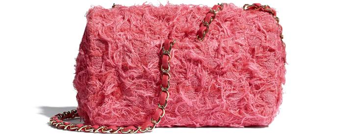image 2 - Bolsa Mini - Tweed & Metal Dourado - Coral