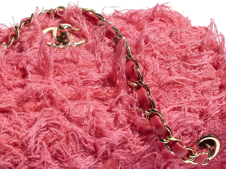image 4 - Bolsa Mini - Tweed & Metal Dourado - Coral
