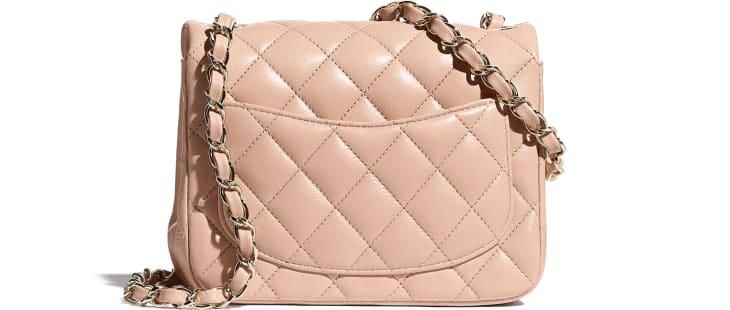 image 2 - Mini Flap Bag - Lambskin - Light Pink