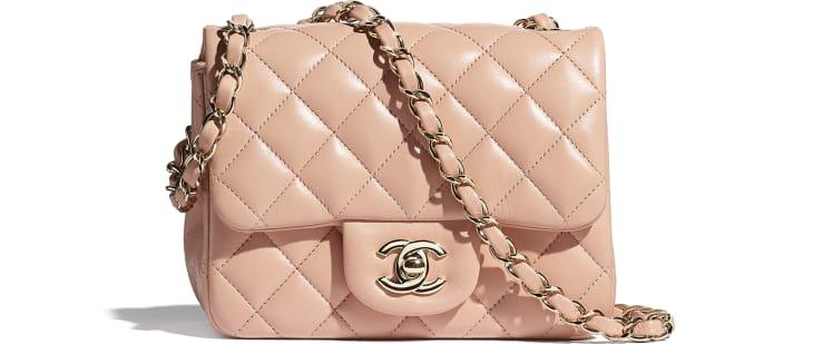 image 1 - Mini Flap Bag - Lambskin - Light Pink