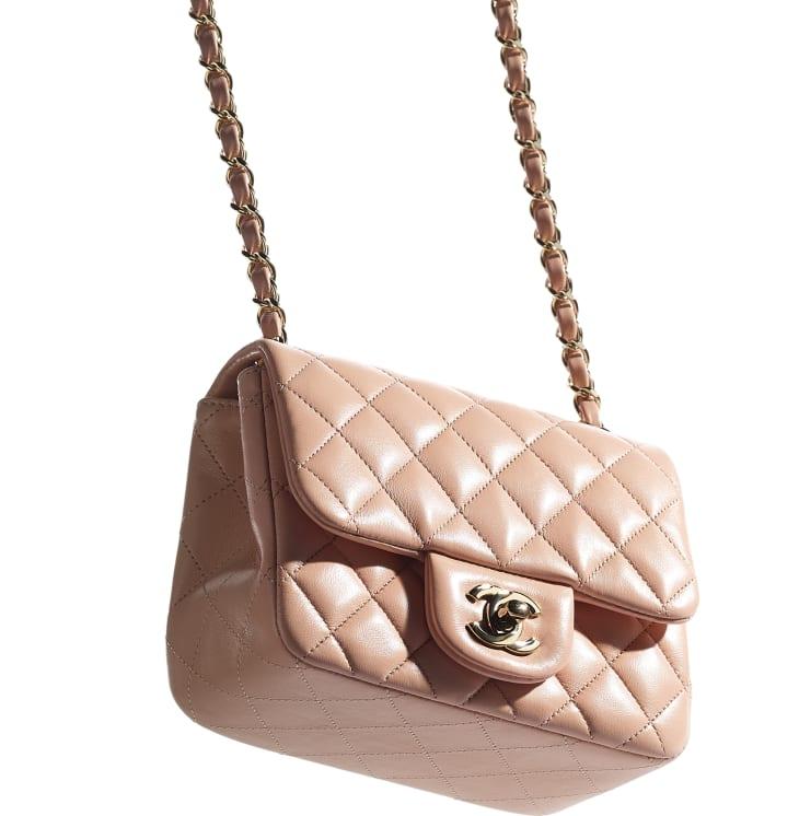 image 4 - Mini Flap Bag - Lambskin - Light Pink