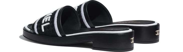 image 3 - Mules - Lambskin & Embroideries - Black & White