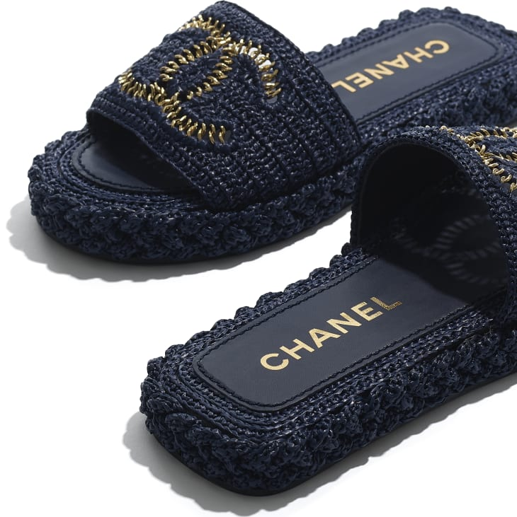 image 4 - Mules - Cord - Navy Blue