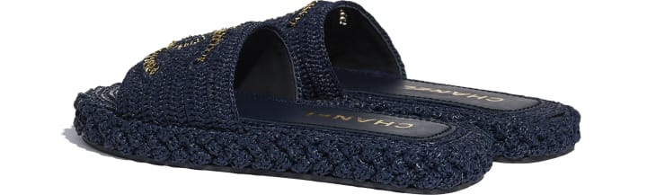 image 3 - Mules - Cord - Navy Blue