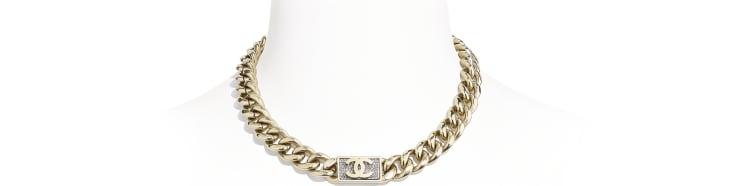image 1 - Necklace - Metal & Diamantés - Gold & Crystal