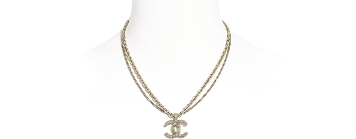 image 1 - Necklace - Metal & Strass - Gold & Crystal