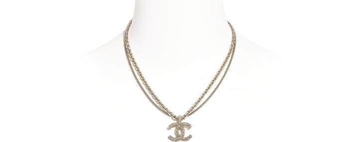 image 1 - Colar - Metal & Strass - Dourado & Cristal