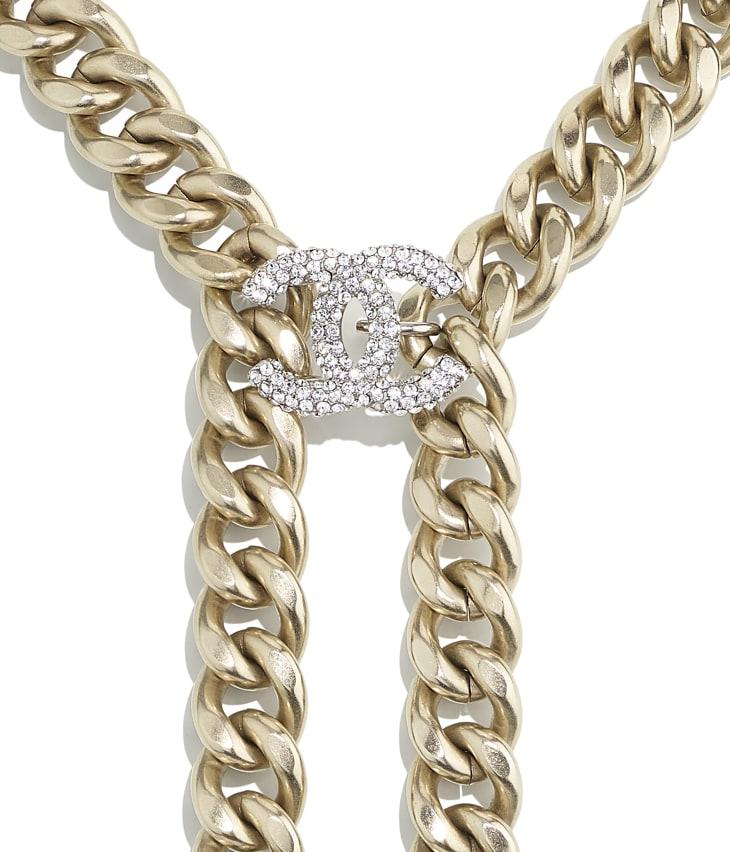 image 3 - Colar - Metal & Strass - Dourado & Cristal