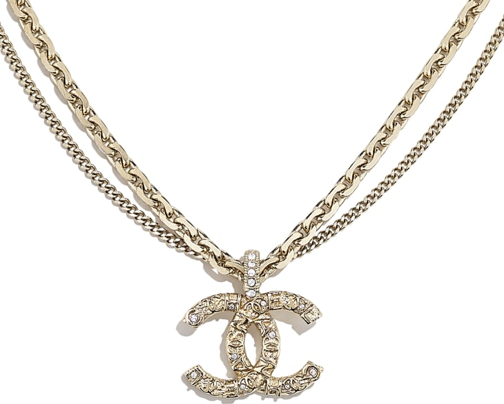 image 3 - Necklace - Metal & Strass - Gold & Crystal