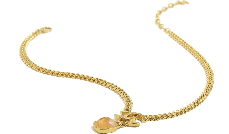 image 2 - Necklace - Metal & Natural Stones - Gold