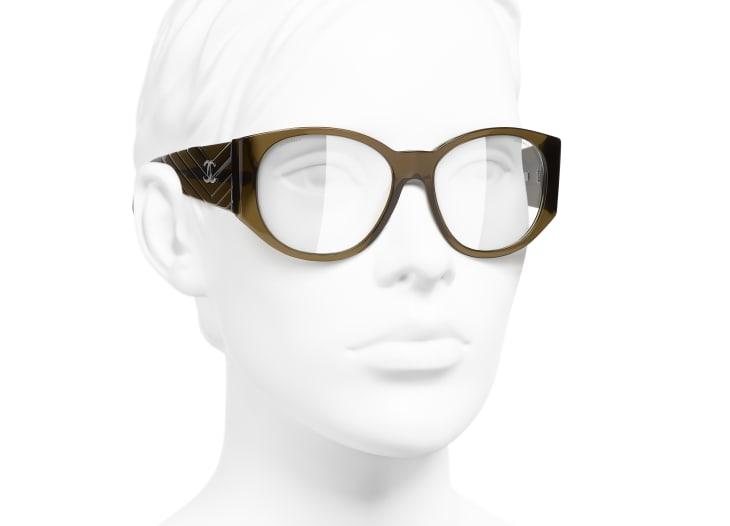 image 6 - Oval Sunglasses - Acetate - Khaki