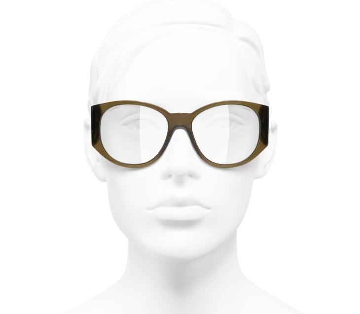 image 5 - Oval Sunglasses - Acetate - Khaki