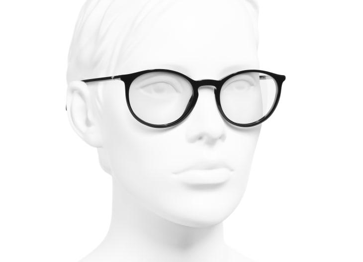 image 6 - Pantos Eyeglasses - Acetate - Black