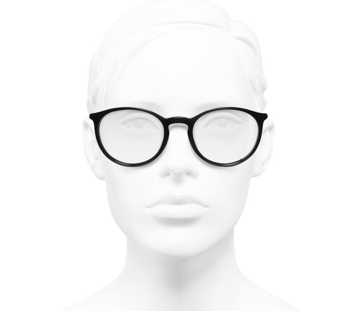 image 5 - Pantos Eyeglasses - Acetate - Black