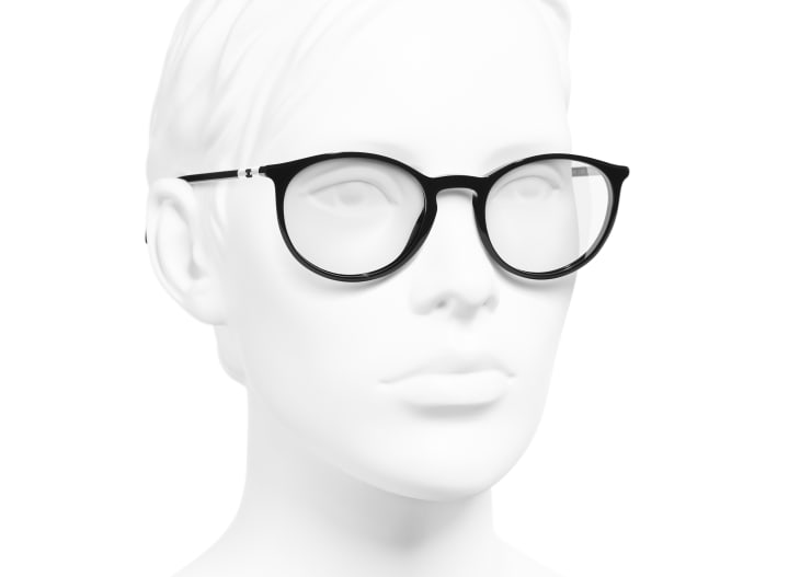 image 6 - Pantos Eyeglasses - Acetate - Black & White