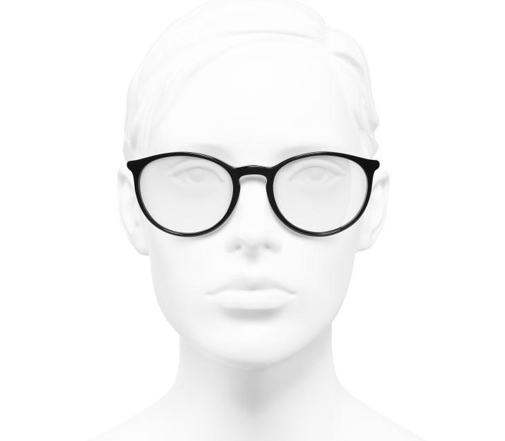image 5 - Pantos Eyeglasses - Acetate - Black & White