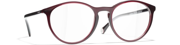 image 1 - Pantos Eyeglasses - Acetate - Dark Red
