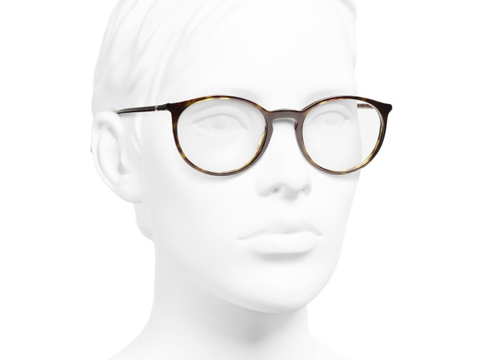 image 6 - Pantos Eyeglasses - Acetate - Dark Tortoise & Beige