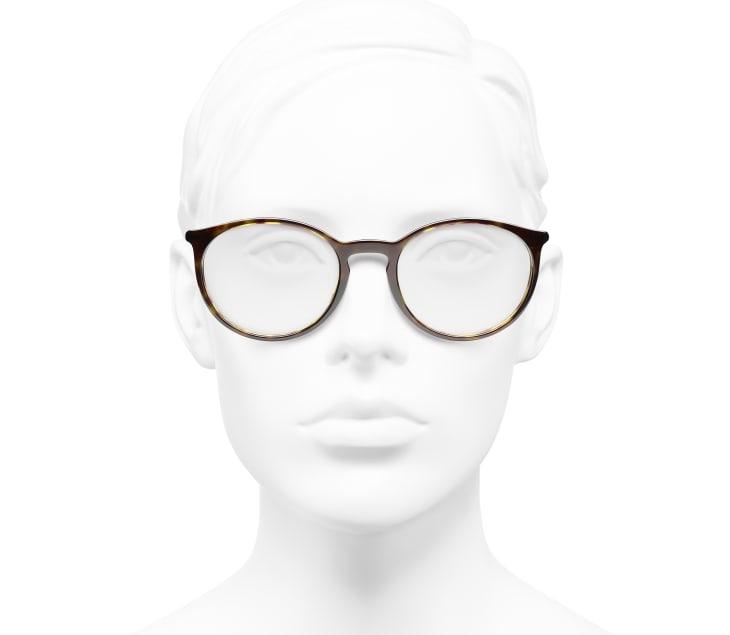 image 5 - Pantos Eyeglasses - Acetate - Dark Tortoise & Beige