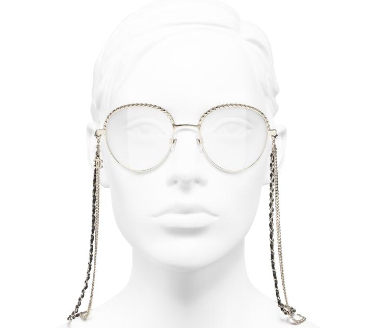 image 5 - Pantos Eyeglasses - Metal & Calfskin - Gold