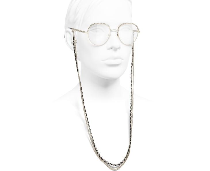 image 7 - Pantos Eyeglasses - Metal & Calfskin - Gold