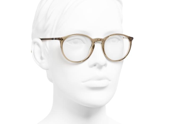 image 6 - Pantos Eyeglasses - Acetate - Transparent Brown