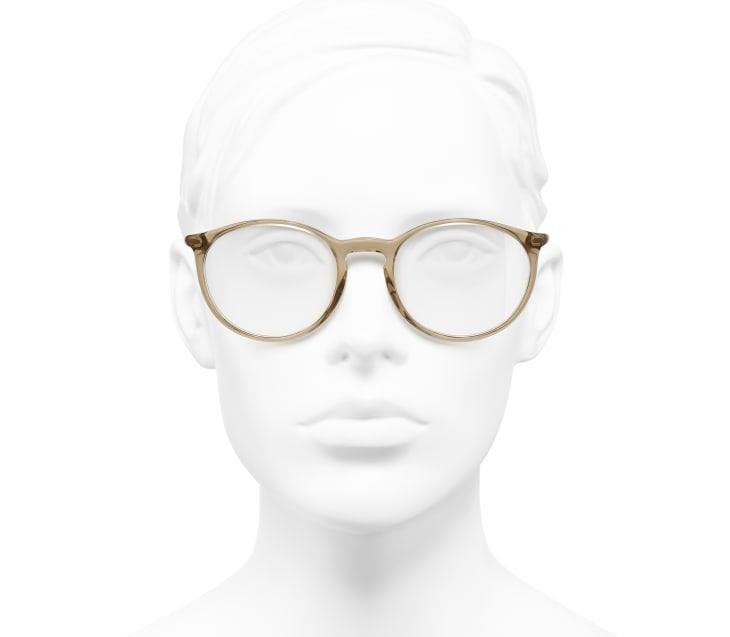image 5 - Pantos Eyeglasses - Acetate - Transparent Brown