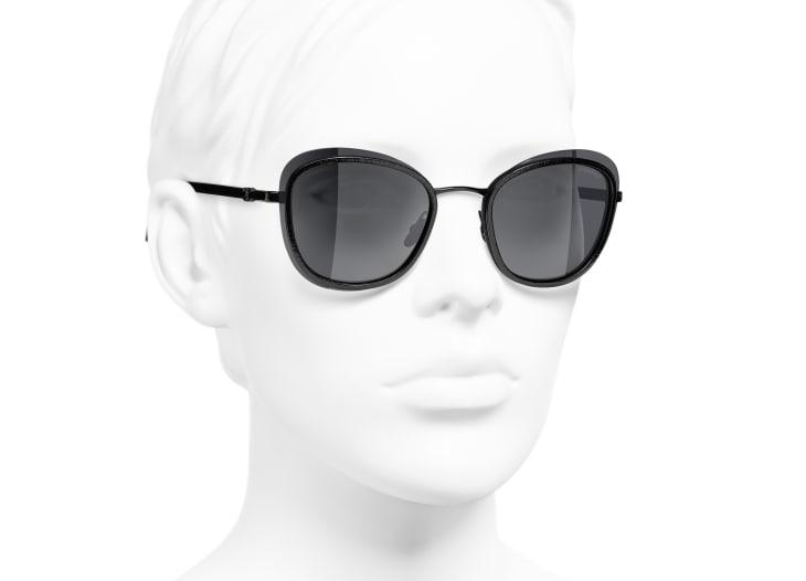 image 6 - Pantos Sunglasses - Acetate & Metal - Black