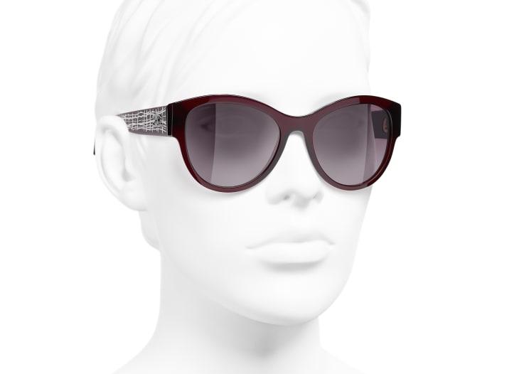 image 6 - Pantos Sunglasses - Acetate & Metal - Dark Red