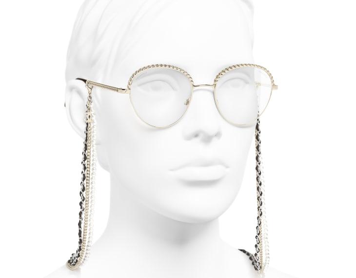 image 6 - Pantos Sunglasses - Metal, Calfskin & Imitation Pearls - Gold