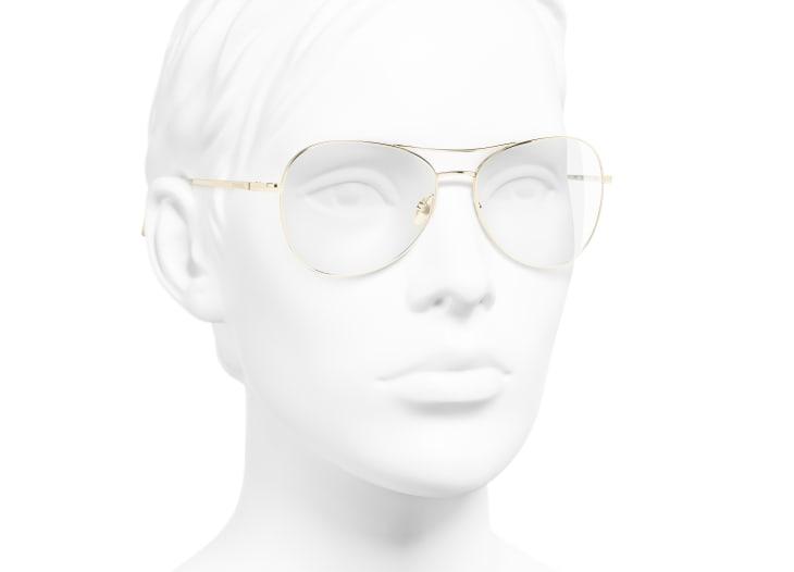 image 6 - Pilot Eyeglasses - Titanium - Gold