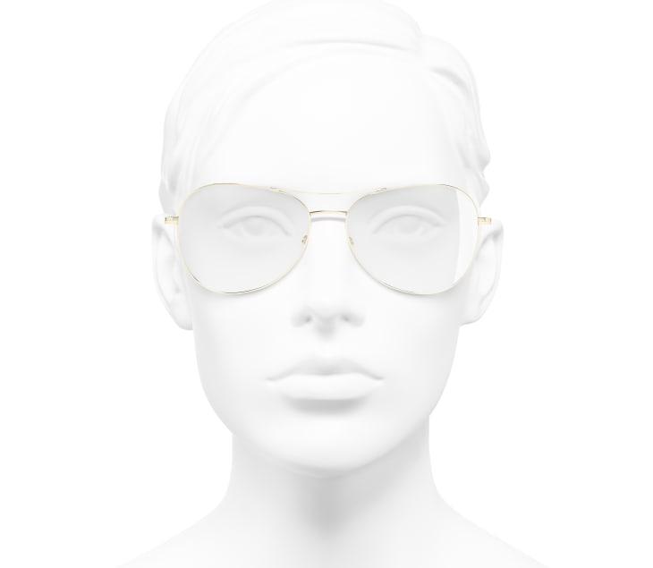 image 5 - Pilot Eyeglasses - Titanium - Gold