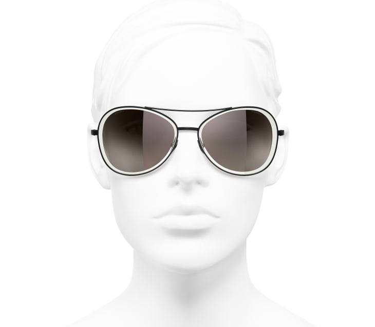 image 5 - Pilot Sunglasses - Metal - Black