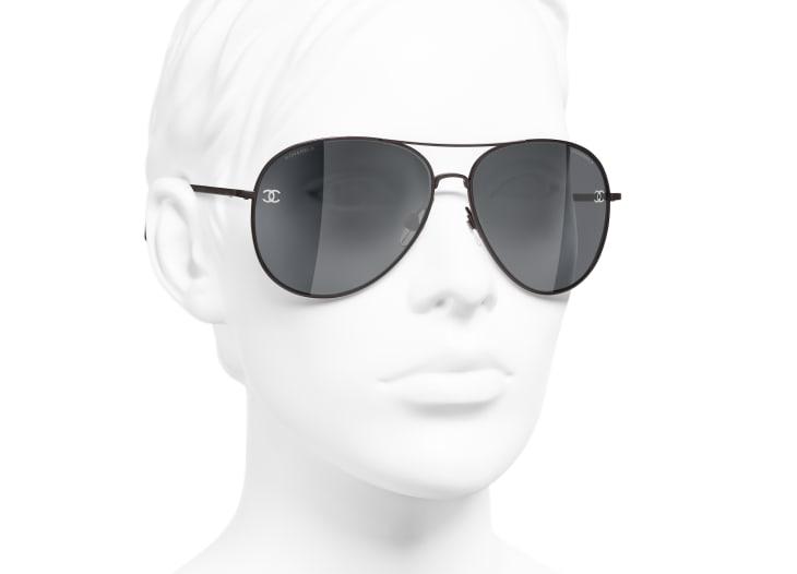 image 6 - Pilot Sunglasses - Titanium & Calfskin - Brown