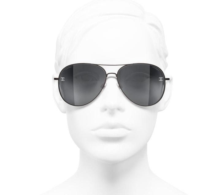 image 5 - Pilot Sunglasses - Titanium & Calfskin - Brown