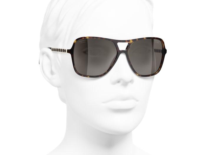 image 6 - Pilot Sunglasses - Metal & Lambskin - Dark Tortoise