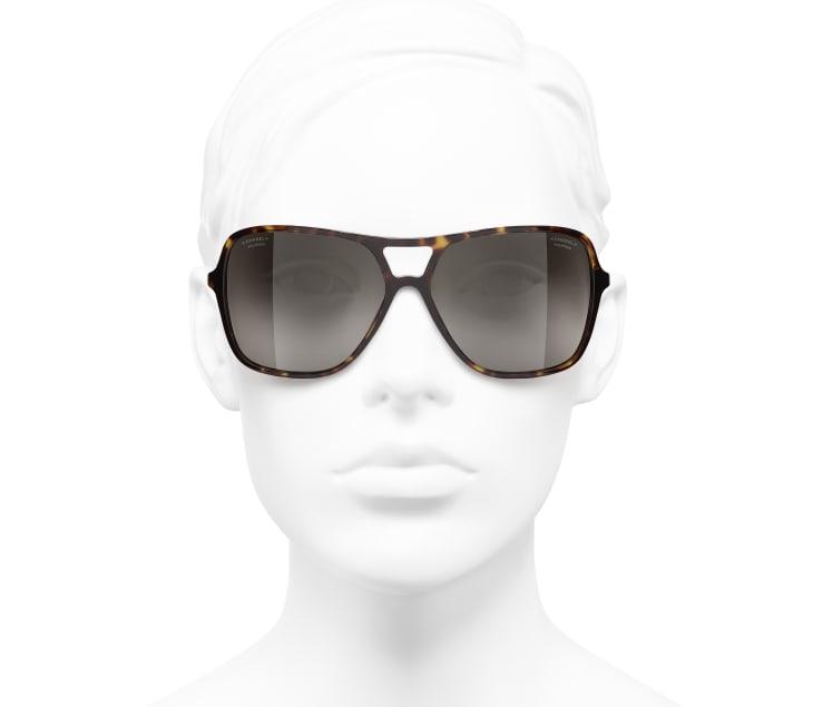 image 5 - Pilot Sunglasses - Metal & Lambskin - Dark Tortoise