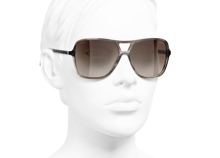 image 6 - Pilot Sunglasses - Metal & Calfskin - Light Brown