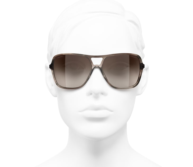 image 5 - Pilot Sunglasses - Metal & Calfskin - Light Brown