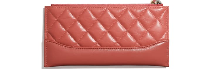 image 2 - Pouch - Aged Calfskin, Smooth Calfskin, Gold-Tone, Silver-Tone & Ruthenium-Finish Metal - Coral