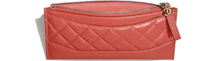image 3 - Pouch - Aged Calfskin, Smooth Calfskin, Gold-Tone, Silver-Tone & Ruthenium-Finish Metal - Coral
