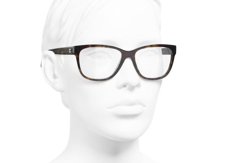 image 6 - Rectangle Eyeglasses - Acetate & Metal - Dark Tortoise