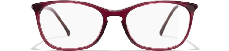 image 2 - Rectangle Eyeglasses - Acetate - Red