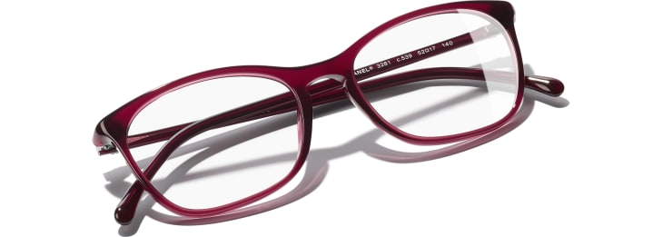 image 4 - Rectangle Eyeglasses - Acetate - Red