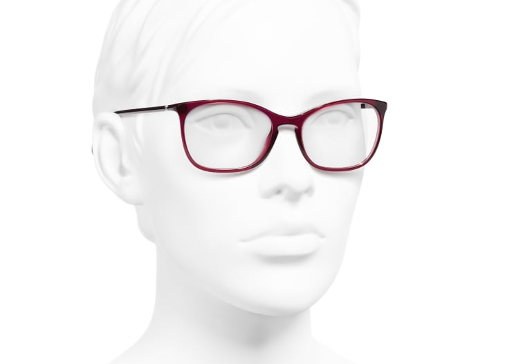 image 6 - Rectangle Eyeglasses - Acetate - Red