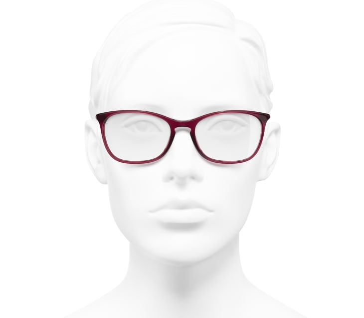 image 5 - Rectangle Eyeglasses - Acetate - Red